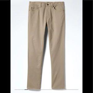 Banana Republic traveler khaki pants
